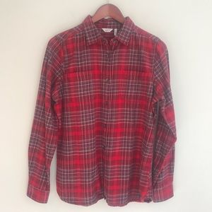 Woolrich Pemberton Flannel Shirt In Red Plaid